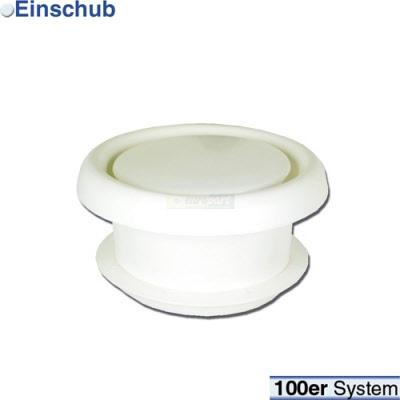Rückstauklappe 100erR weiß Rundsystem Rückstauklappe für Schlauch Ablufttrockner
