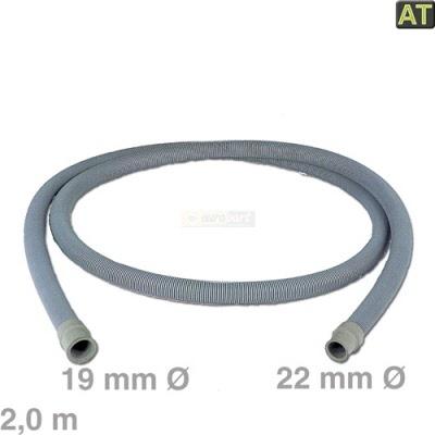 Nedis Ablaufschlauch 22mm gewinkelt 19mm gerade 0,5bar 60° C 1,50m Waschmaschine